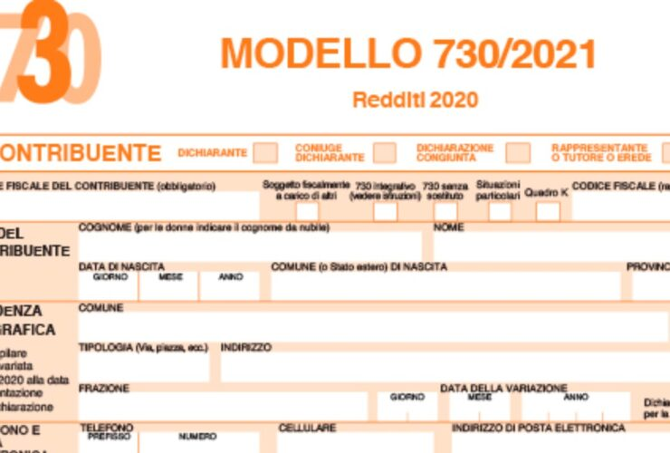 Dichiarazione dei redditi 2021
